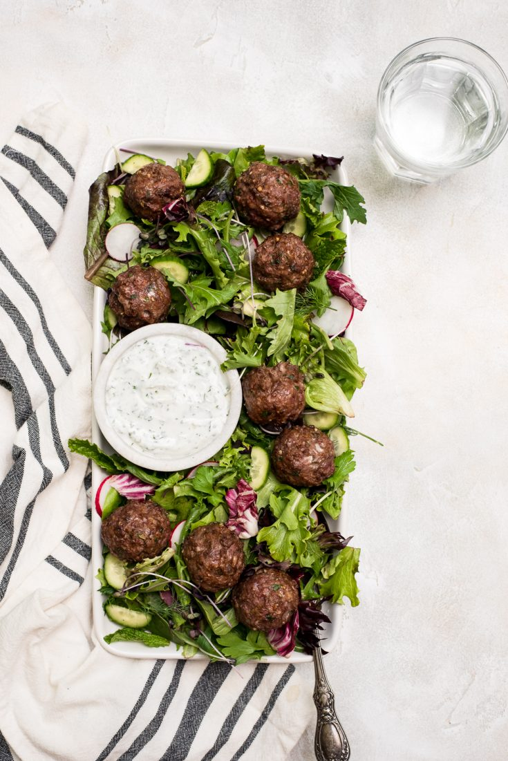 There is nothing as delicious as a lamb meatball in the summer #meatball #lamb