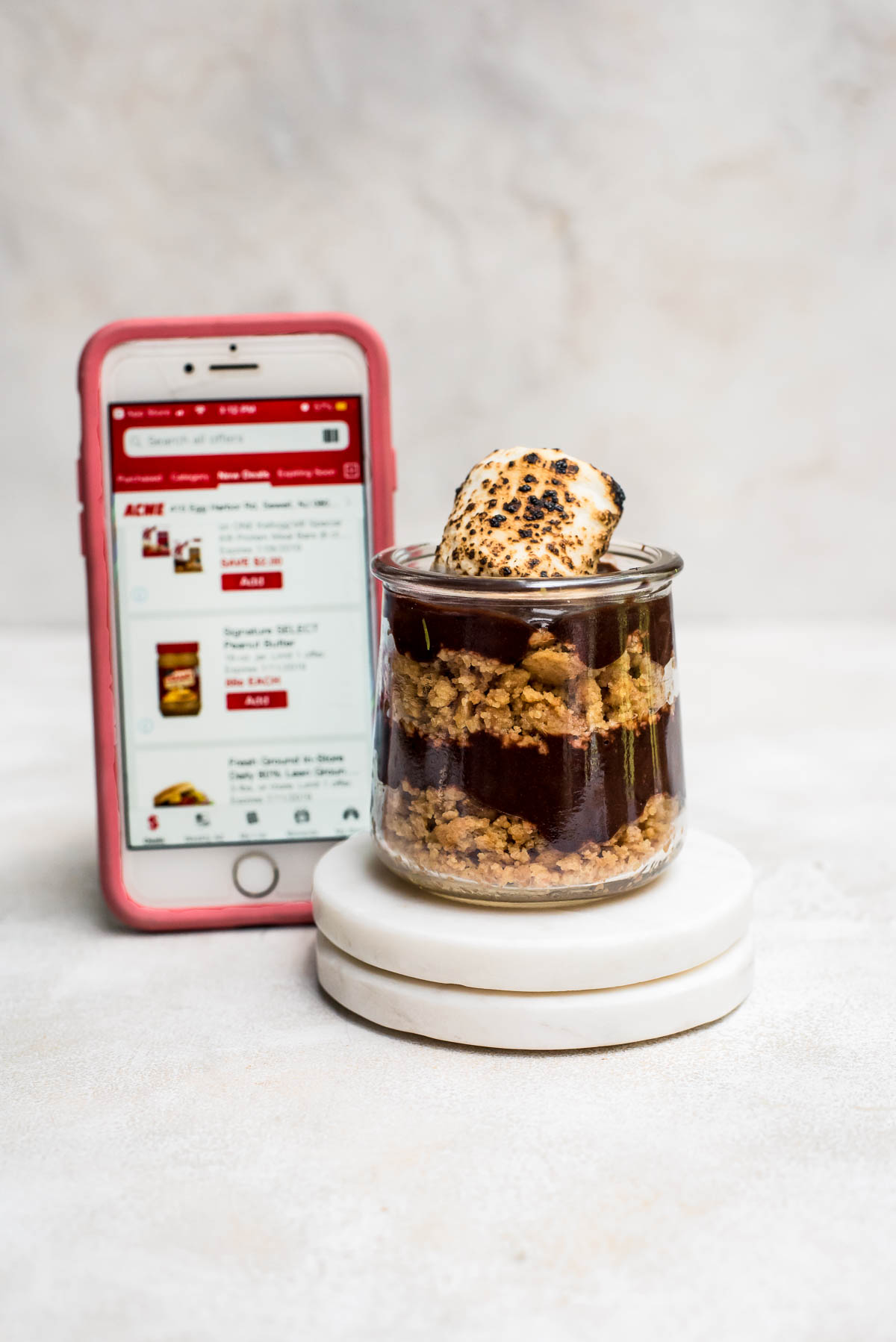 s'mores pudding with store info