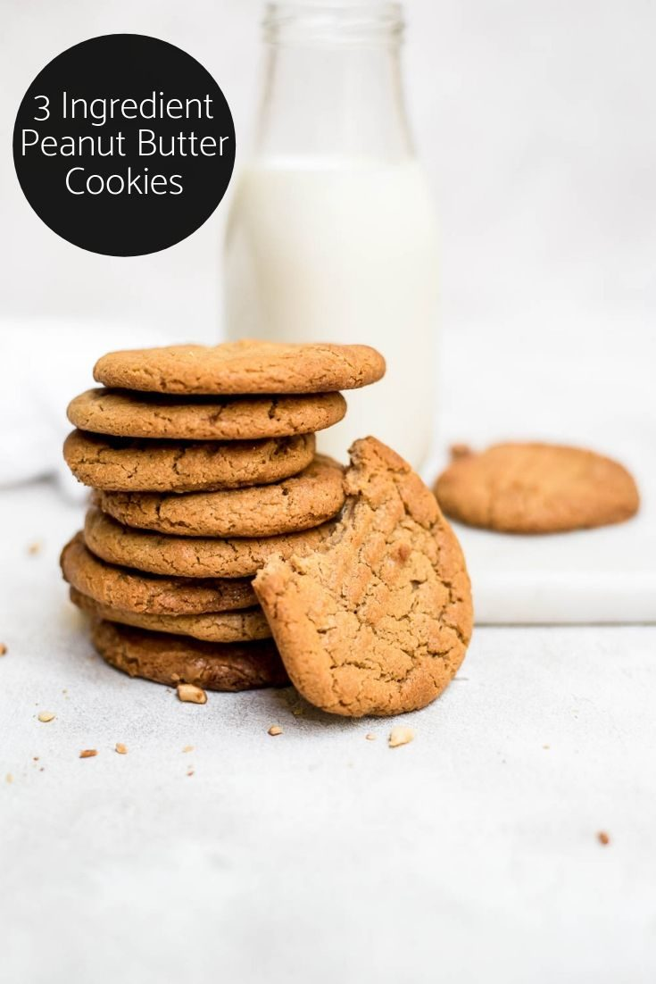 The only thing you need to do today is make these 3 ingredient peanut butter cookies #peanutbutter #cookierecipes