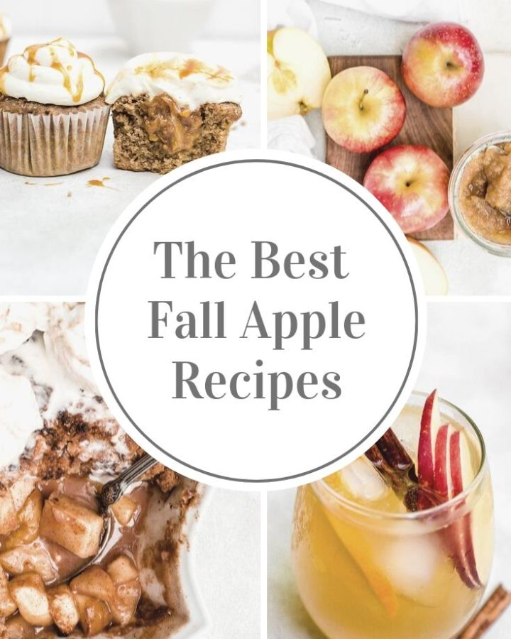 collage for the best fall apple recipes