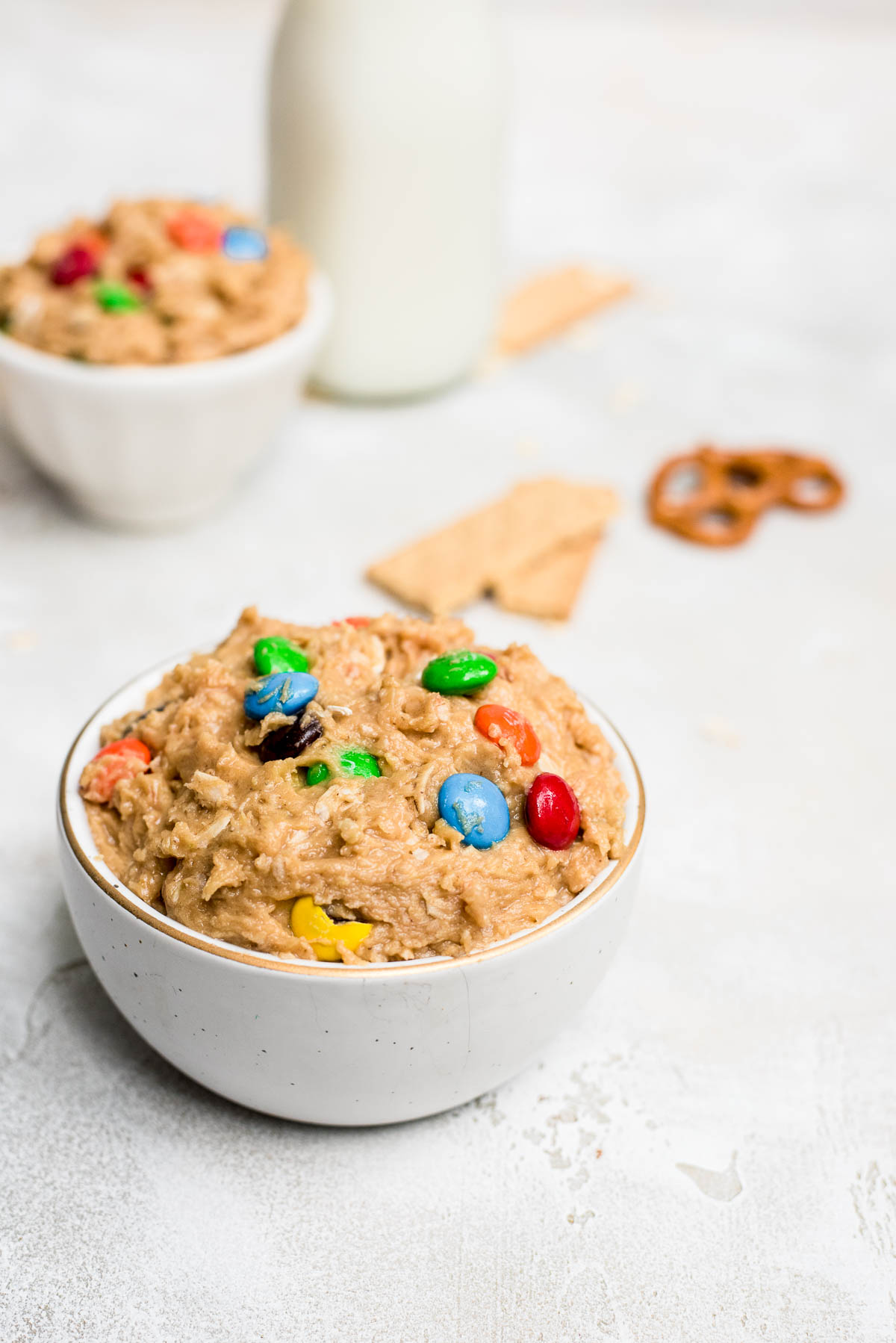 close up monster cookie dough dip