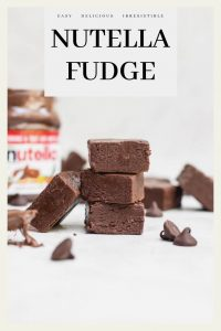 stacked no cook nutella fudge