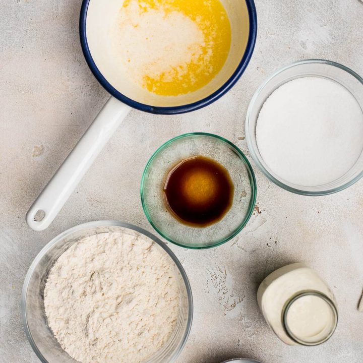 ingredients for making edible cookie dough