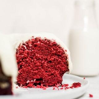 Close up inside of bundt cake