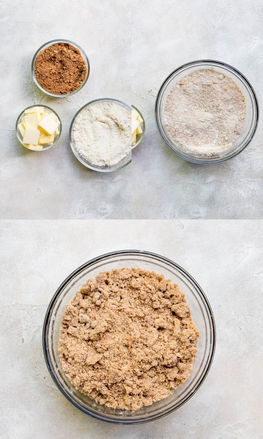 step by step process of making streusel