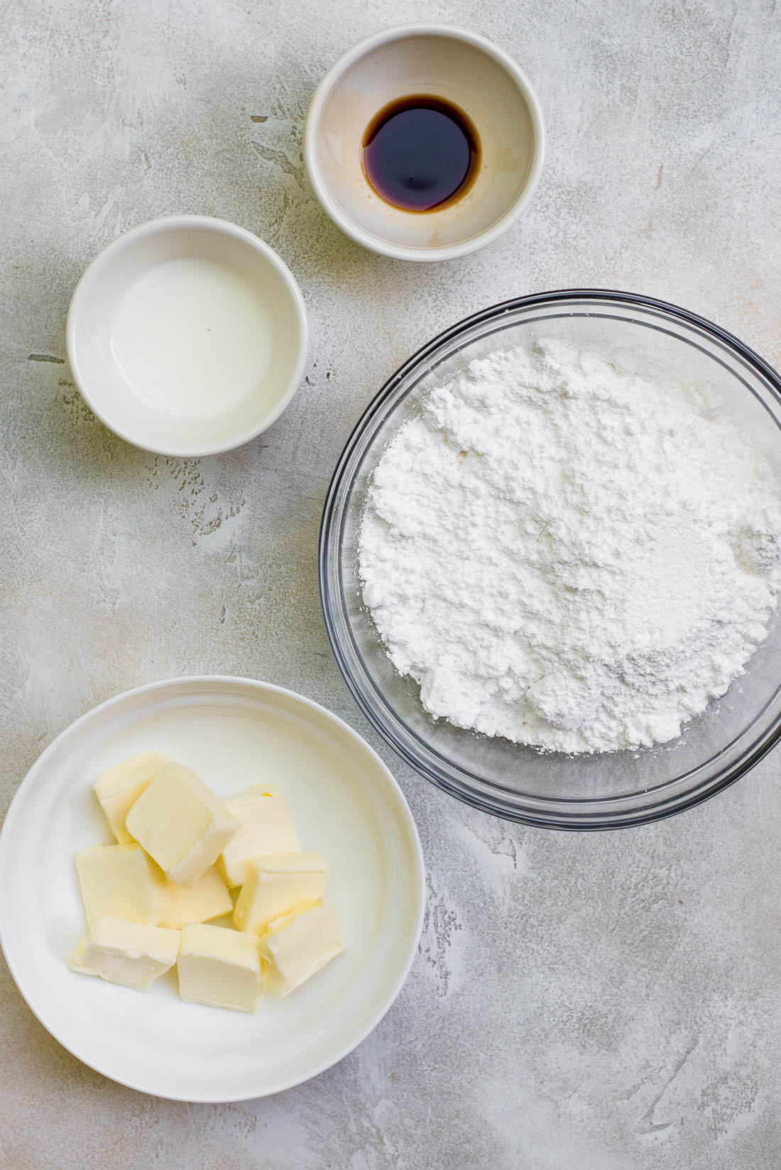 ingredients for vanilla buttercream frosting