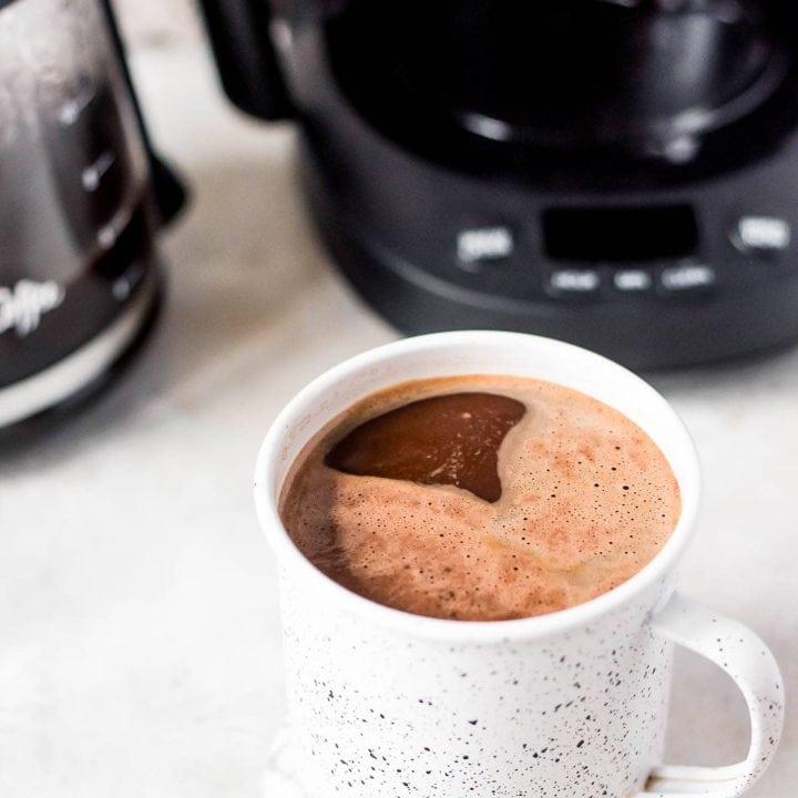close up mug of coffee