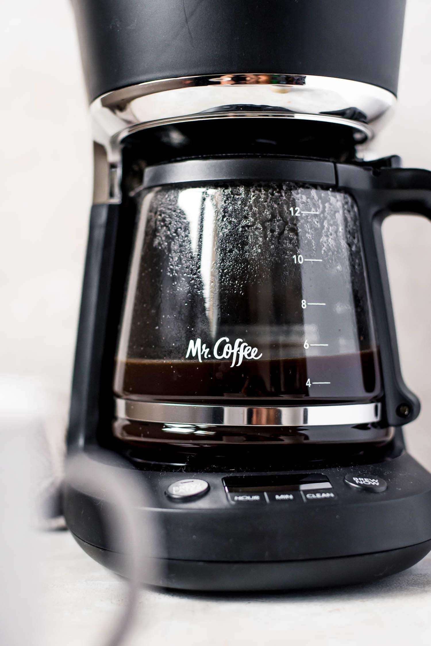 close up of mr coffee maker
