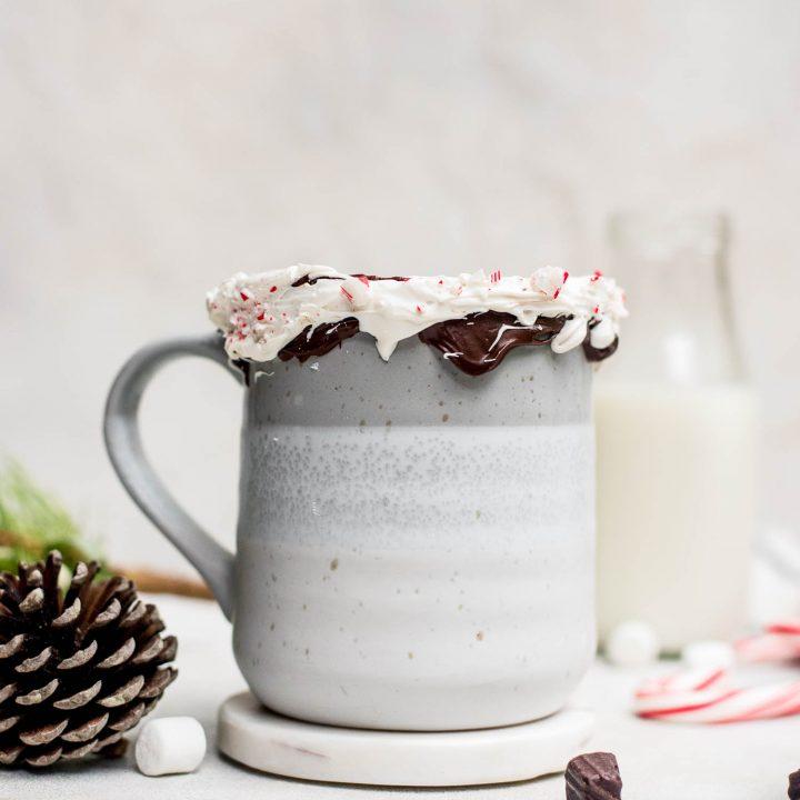 mug of peppermint hot chocolate