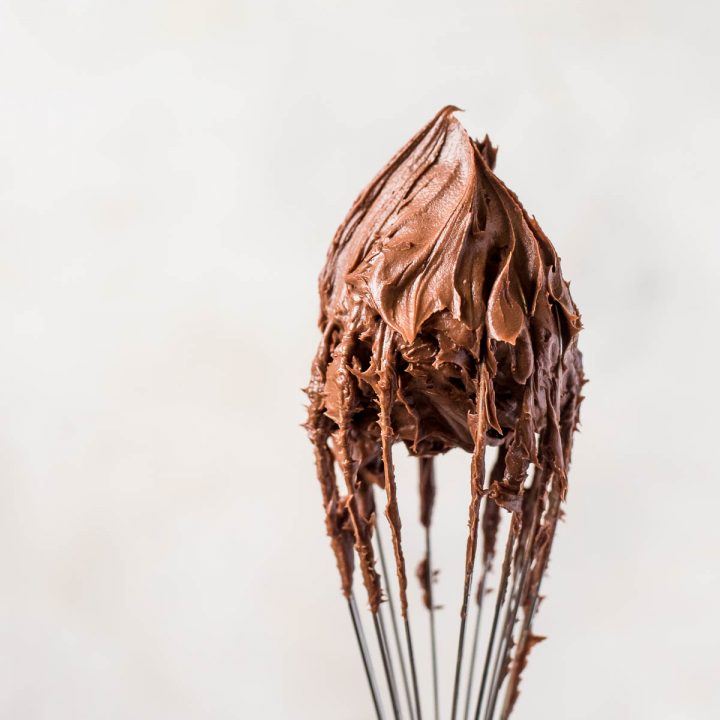 frosting on wire whisk