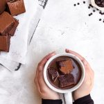 hot chocolate with chocolate marshmallows