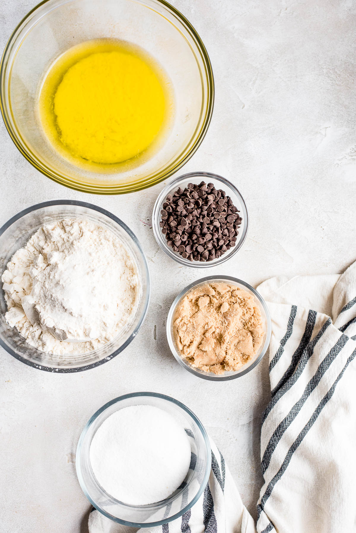 ingredients to make edible cookie dough