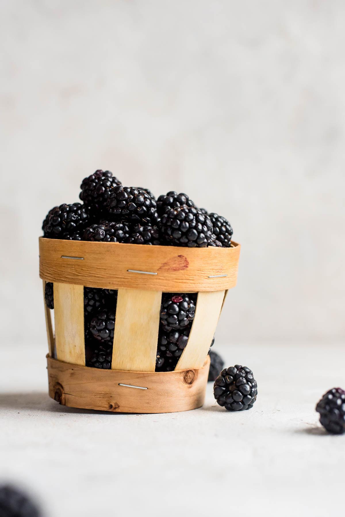small basket of blackberries