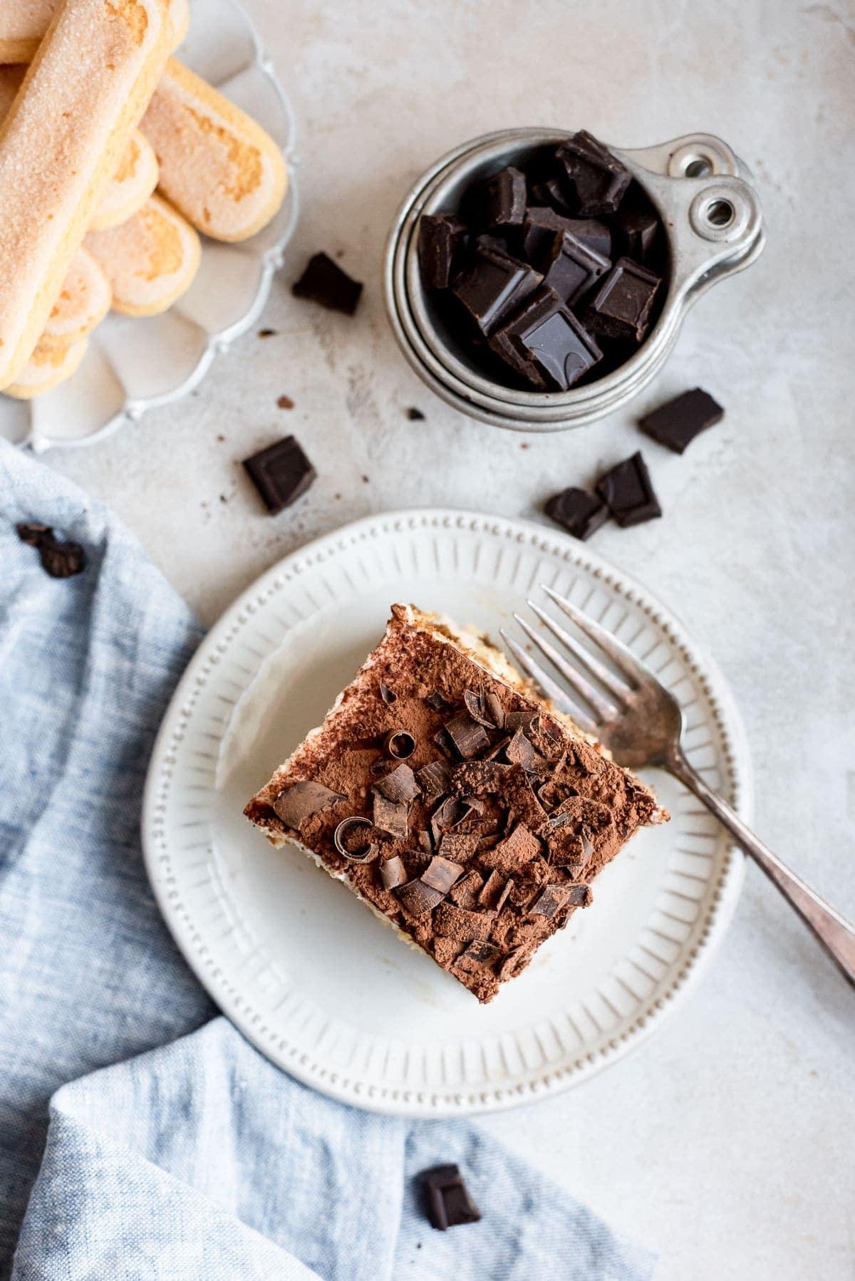 close up overhead cake slice