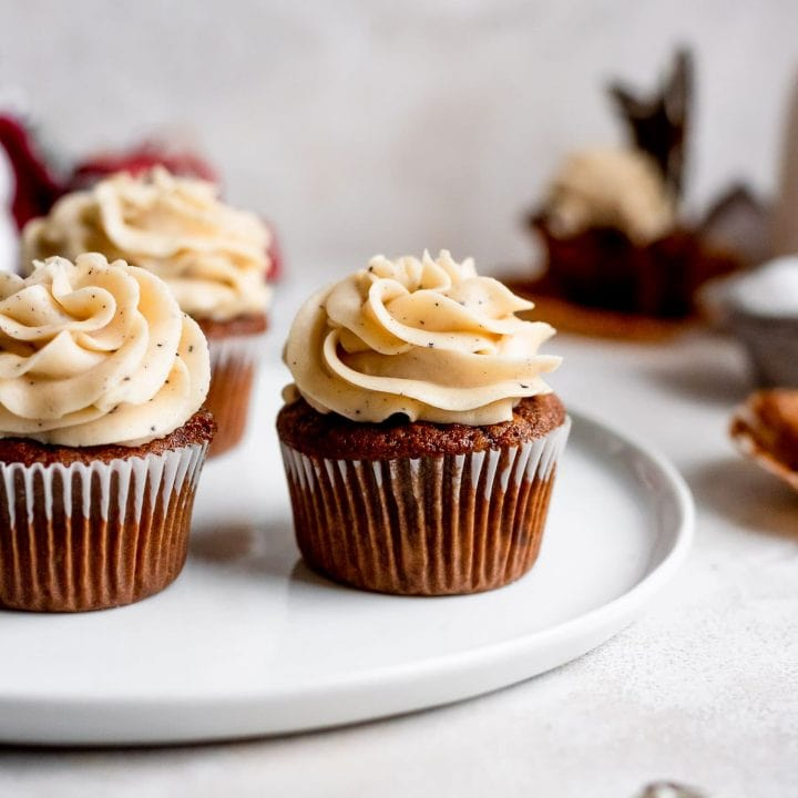 cupcakes on white plae