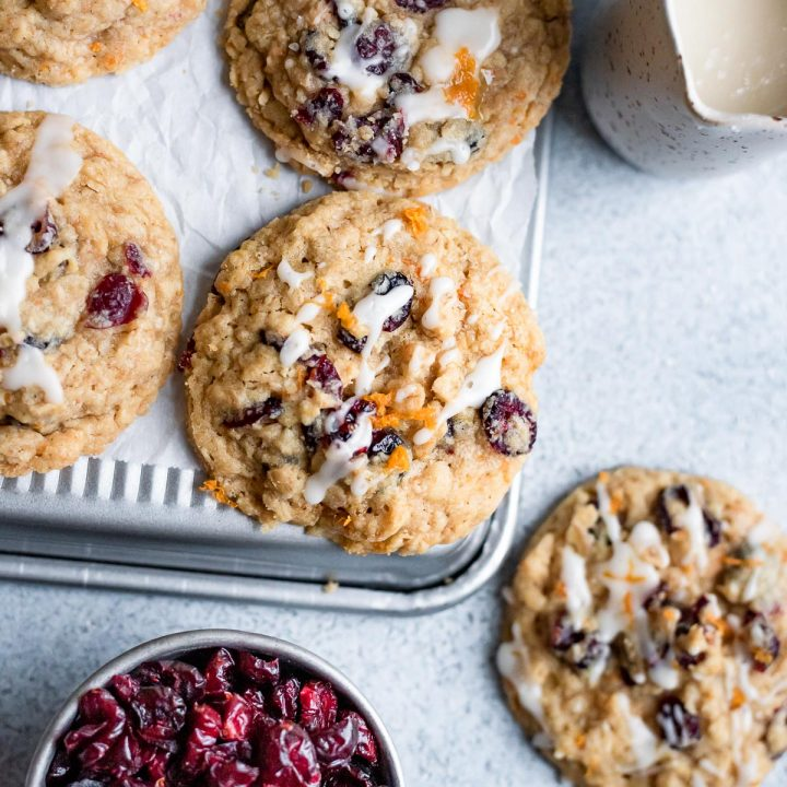overhead cookies on upside down baking sheet