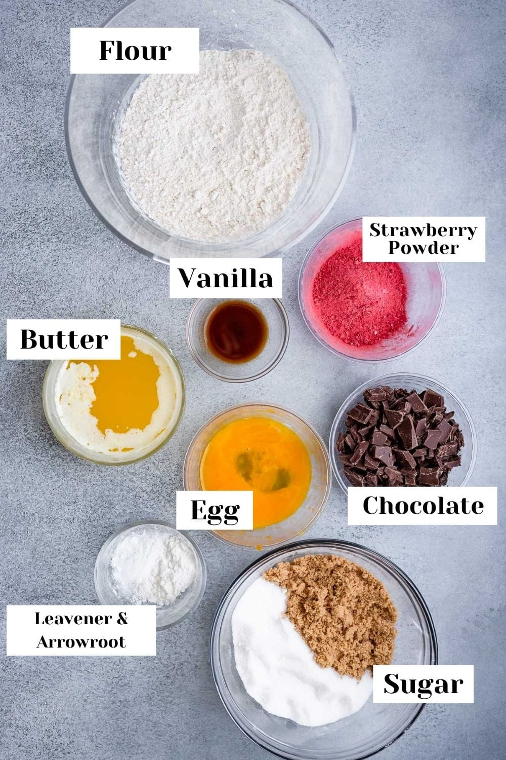 ingredients for making cookies