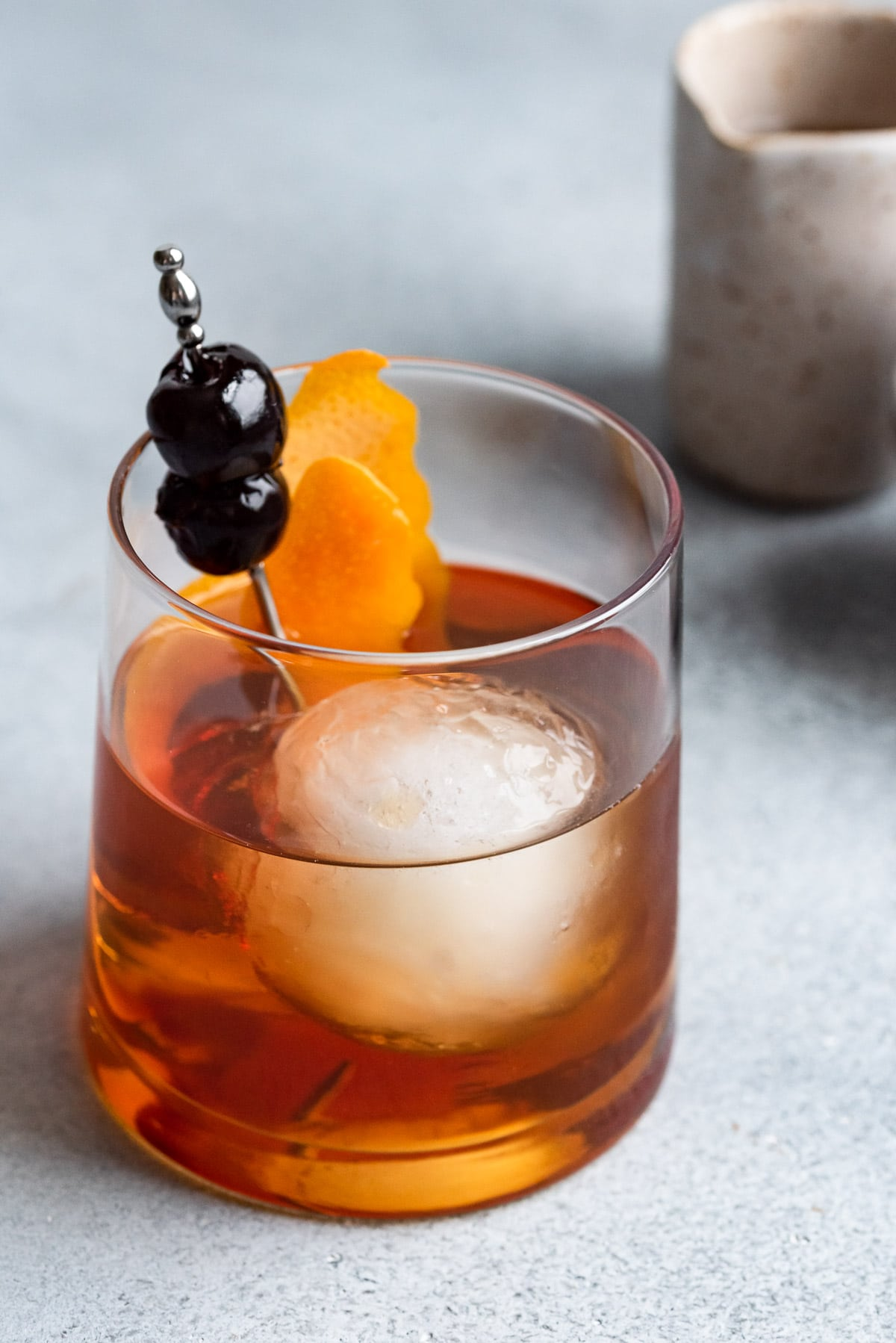 close up of maple old fashioned